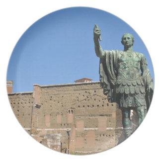 Standbeeld van Trajan in Rome, Italië Melamine+bord