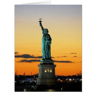 Standbeeld van Vrijheid Extra Grote Wenskaart
