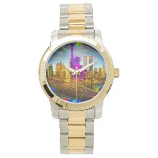 Standbeeld van Vrijheid Freiheitsstatue New York Horloge