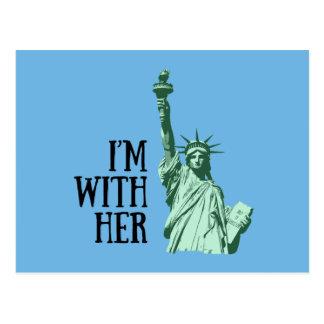 Standbeeld van Vrijheid: Ik ben met haar Briefkaart
