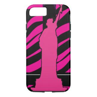 Standbeeld van Vrijheid in Roze en Zwarte iPhone 7 iPhone 7 Hoesje