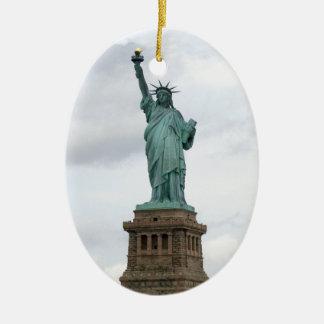 Standbeeld van Vrijheid Keramisch Ovaal Ornament