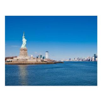 Standbeeld van Vrijheid, Rivier Hudson en Briefkaart