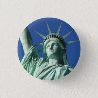 Standbeeld van Vrijheid Ronde Button 3,2 Cm