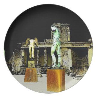 Standbeelden in Pompei Italië - Mooie Ontdekking Bord