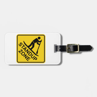 Standup Verkeersteken van de Streek Paddleboarding Kofferlabel