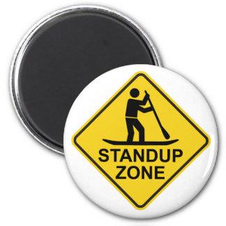 Standup Verkeersteken van de Streek Paddleboarding Magneet