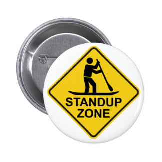 Standup Verkeersteken van de Streek Paddleboarding Ronde Button 5,7 Cm