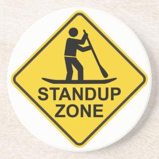 Standup Verkeersteken van de Streek Paddleboarding Zandsteen Onderzetter