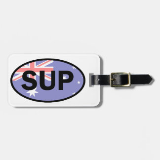 Standup Vlag van Paddleboard Australië Bagagelabel