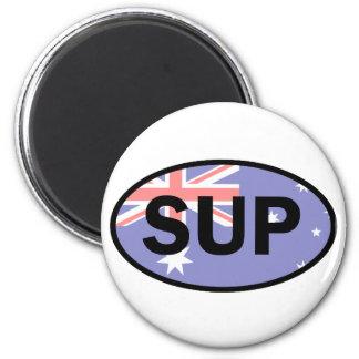 Standup Vlag van Paddleboard Australië Ronde Magneet 5,7 Cm