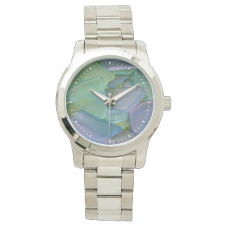Stapel van blauw strandglas, Alaska Horloges