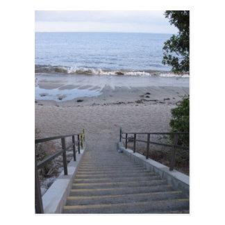 stappen aan het strand briefkaart