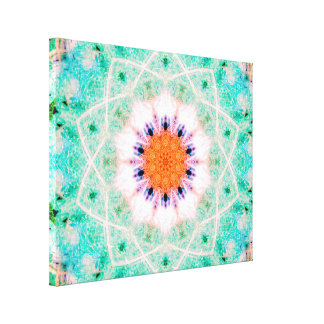 Star-Shaped Mandala Canvas Afdruk