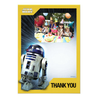 Star Wars R2-D2 dankt u de Sjabloon van de Foto Persoonlijke Aankondiging