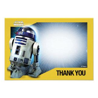 Star Wars R2-D2 dankt u Kaarten Uitnodigingen