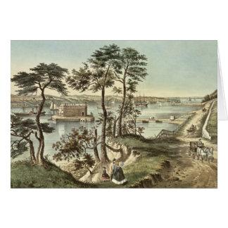Staten Island en versmalt van Fort Hamilton Kaart