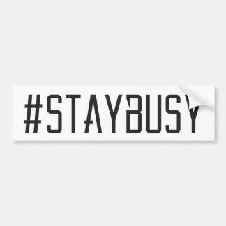 #STAYBUSY de Witte Sticker van de Bumper Bumpersticker