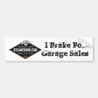 Steamcrunk: Ik rem voor Garage sales Bumpersticker