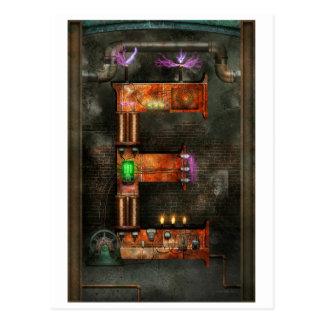 Steampunk - Alfabet - E is voor Elektriciteit Briefkaart