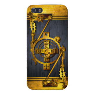 Steampunk in Hout & Messing iPhone 5 Hoesje