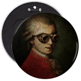 Steampunk Mozart Ronde Button 6,0 Cm