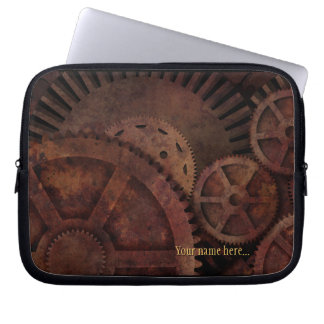 Steampunk past Industriële Machines aan Laptop Sleeve
