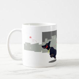 Stedelijk monster met doberman koffiemok