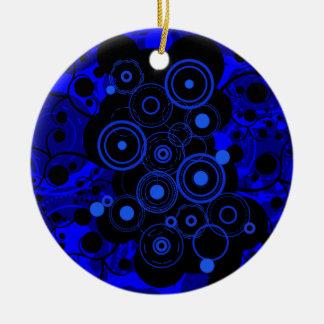 Stedelijk van blauw-Zwarte Rond Keramisch Ornament