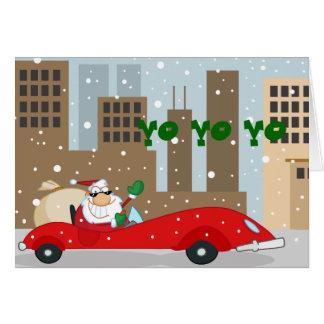 Stedelijke Kerstman in Gladde Auto Kaart