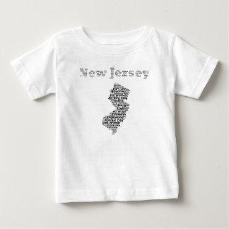 Steden van New Jersey Baby T Shirts