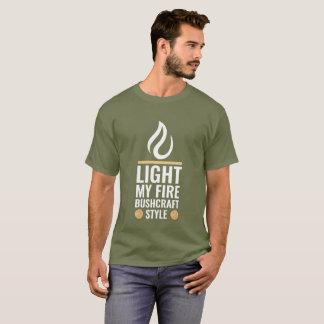 Steek Mijn Stijl van Bushcraft van de Brand aan T Shirt
