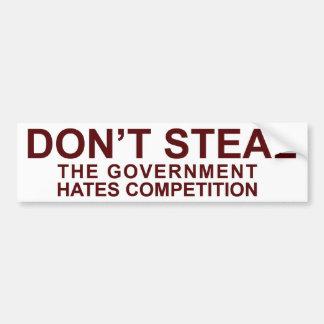 Steel niet - de Concurrentie van de Haat van de Ov Bumpersticker