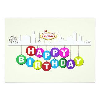 """Steen 5"""" x 7"""" van de Verjaardag van Las Vegas, 12,7x17,8 Uitnodiging Kaart"""