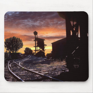 Steenkool Tipple bij Zonsondergang Muismat