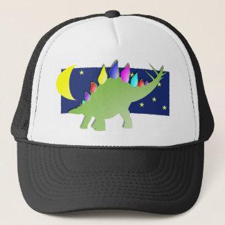 Stegosaurus in de nacht met maan en sterren trucker pet