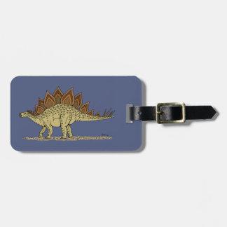 Stegosaurus Kofferlabel