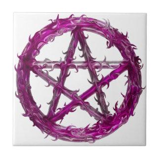 Stekelige pentagram tegeltje
