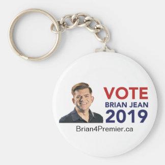 Stem Brian Jean Round Keychain Basic Ronde Button Sleutelhanger