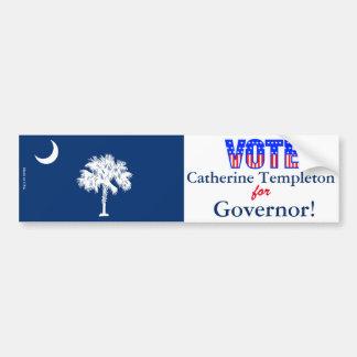 Stem Catherine Templeton voor Gouverneur Bumpersticker
