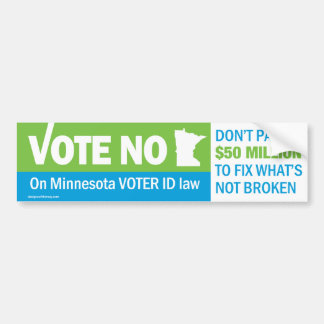 Stem Nr over van de Kiezer van Minnesota de Bumper Bumpersticker