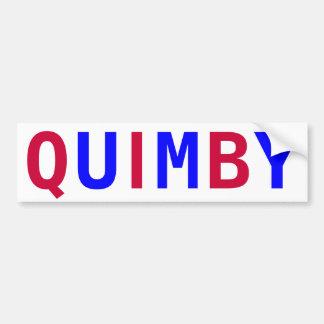 Stem Quimby voor Burgemeester Bumpersticker