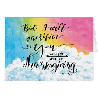 Stem van Thanksgiving Wenskaart