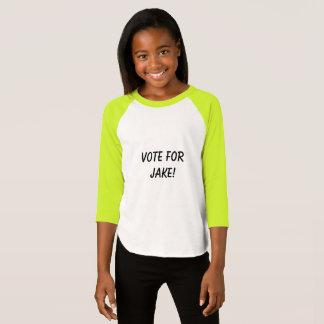 Stem voor Jake het overhemd van het kindmeisje T Shirt
