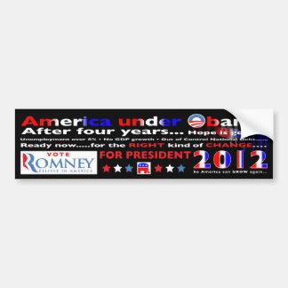 Stem voor Mitt Romney voor President in 2012 Bumpersticker