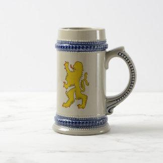Stenen bierkroes van het Bier van de Leeuw van Bierpul