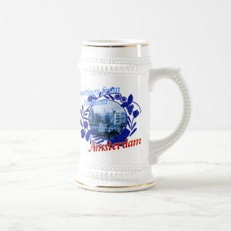 Stenen bierkroes van het Bier van Delft de Blauwe Bierpul