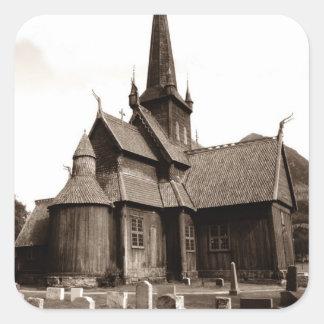 Stenen van de Werf van de Kerk van de Genealogie Vierkant Sticker