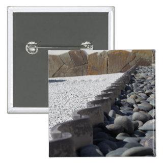 Stenen Vierkante Button 5,1 Cm