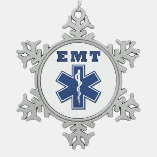 Ster EMT van het Leven Tin Sneeuwvlok Ornament